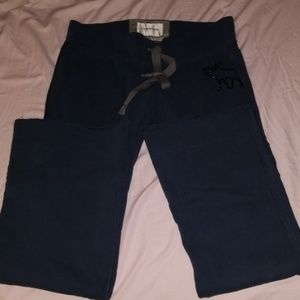 Navy blue Abercrombie and Fitch sweat pants